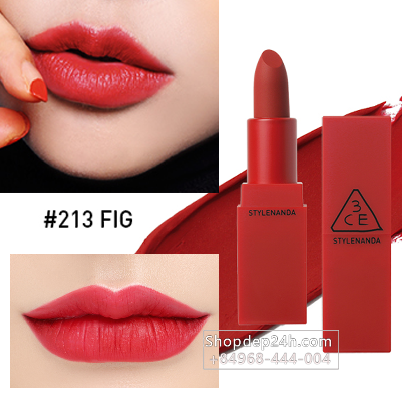 [3CE] Son thỏi 3CE Red Recipe Matte Lip Color #213 Fig