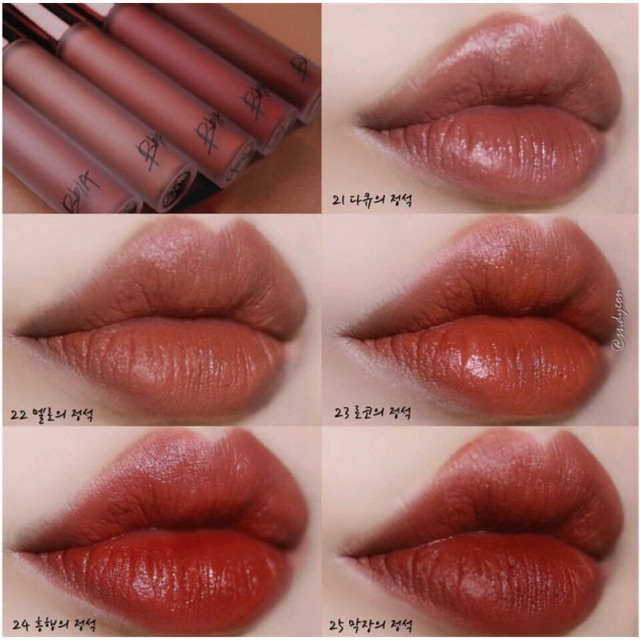 [Bbia] Son kem lì BBia Last Velvet Lip Tint  Ver.5  #21 #22 #23 #24 #25