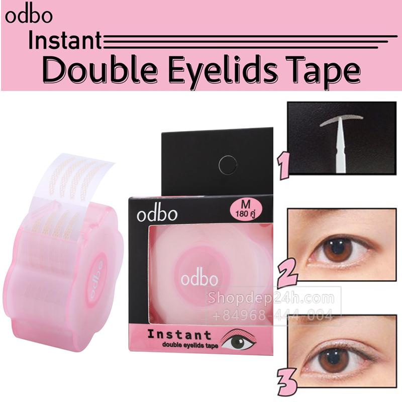 [Odbo] Kích mí lụa dạng lưới sẵn keo Instant Double Eyelids Tape Thái Lan (180 cặp/1 cuộn)