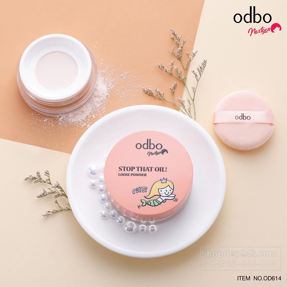 [Odbo] Phấn phủ bột kiềm dầu Odbo Nextgen stop that oil loose powder Thái Lan