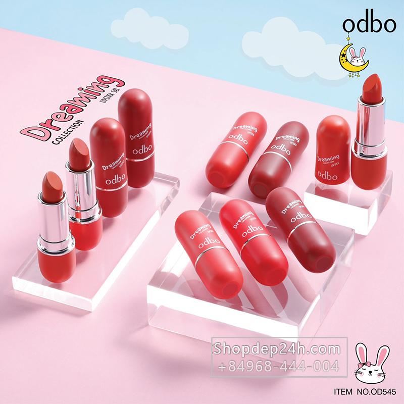 [Odbo] Set son thỏi 5 cây Odbo Dreaming Lipstick Thái Lan