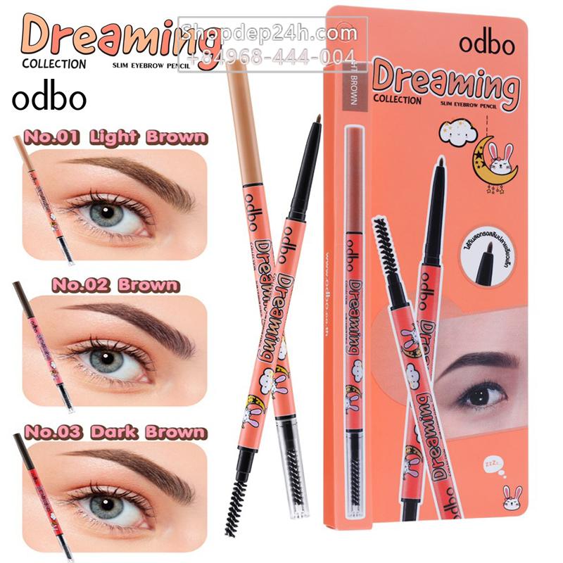 [Odbo] Chì kẻ mày Odbo Dreaming Slim Eyebrow Pencil Thái Lan