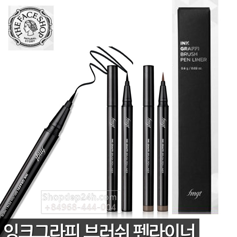 [The Face Shop] Kẻ mắt nước kẻ dạ The Face Shop fmgt Ink Graffi Brush Pen Liner 0.6g