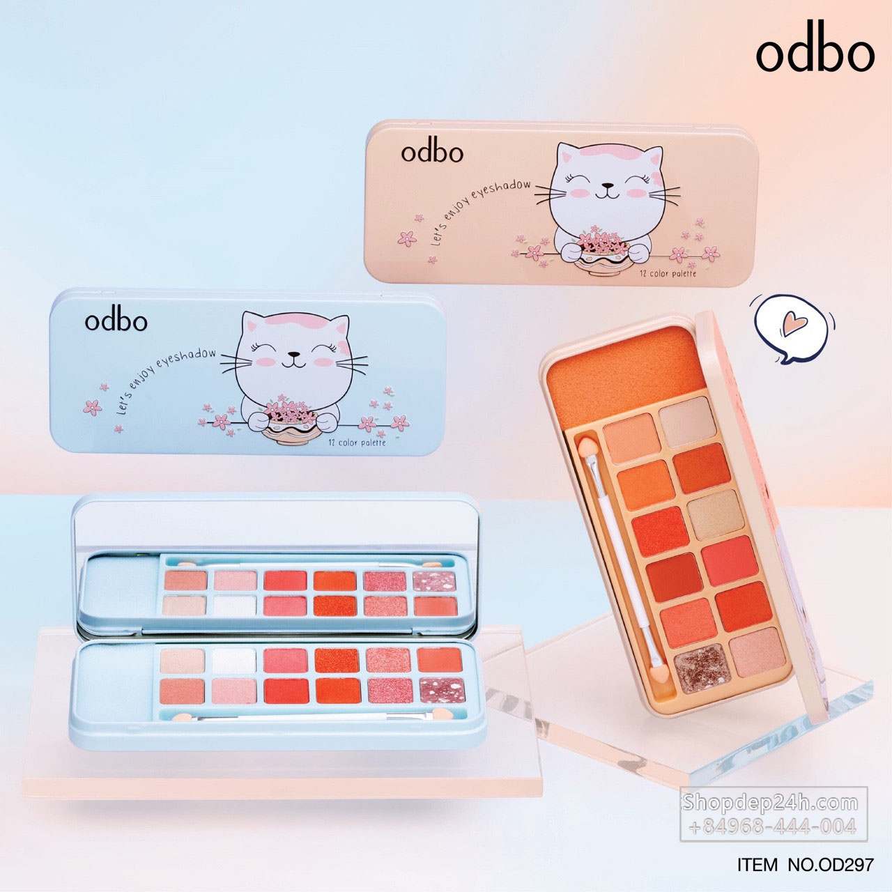 [Odbo] Phấn mắt Odbo Lets enjoy eyeshadow 12 Color Palette