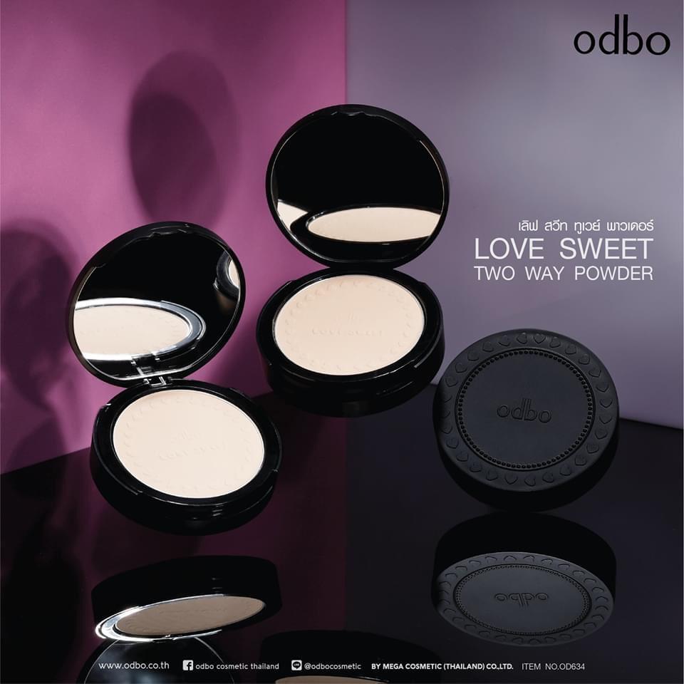 Phấn phủ kiềm dầu chống nắng Odbo Love Sweet Thái Lan OD634