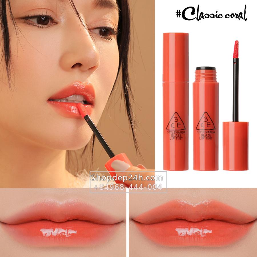[3CE] Son 3CE Glaze Lip Tint #Classic Coral