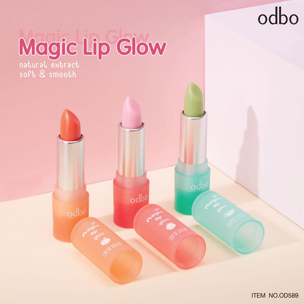 [Odbo] Son dưỡng có màu Magic Lip Glow Natural Extract Soft and Smooth OD589 Thái Lan