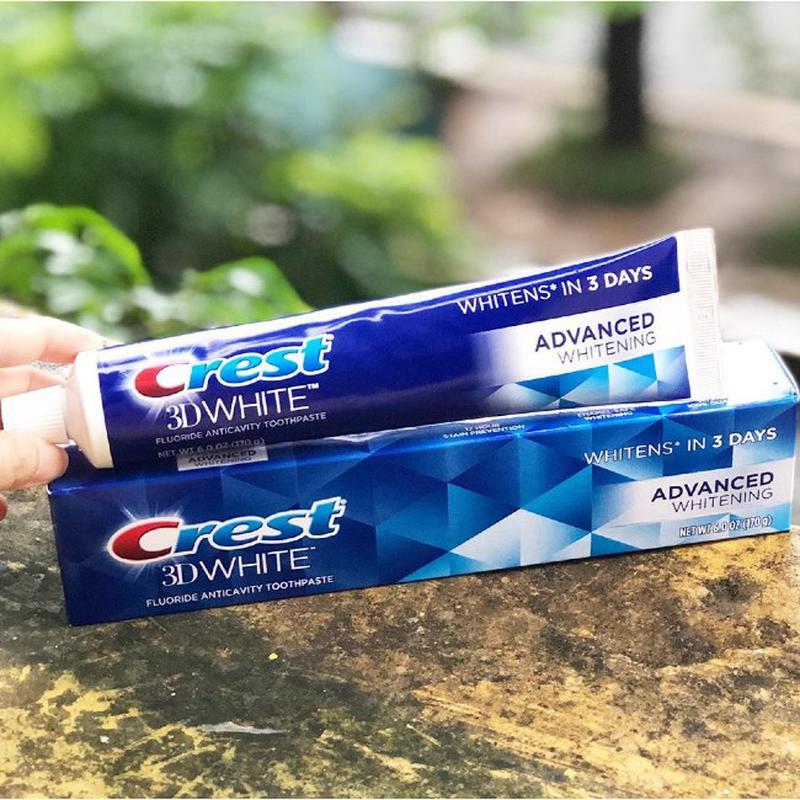 [Crest] Kem đánh răng Crest 3D White Advanced Whitening 158g